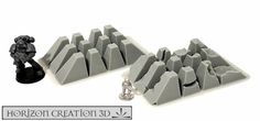 HC3D -Terra Dragon Teeth- Wargames Miniature Scenery 40k 28mm 15mm #HorizonCreation3D