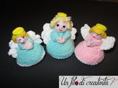 Angeli -  toys handmade crochet angels