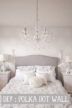 DIY Polka Dot Wall #bedroom