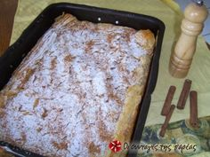 Bougatsa from paradise Recipe by Cookpad Greece Greek Sweets, Greek Desserts, Greek Recipes, Real Food Recipes, Cooking Recipes, Flourless Chocolate Cakes, Breakfast Pastries, Cookbook Recipes, Tray Bakes