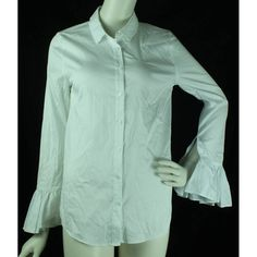 30cd475bc1fb BNWOT M S Collection - Size  8 - White - Ruffled Sleeve Blouse Ruffle  Sleeve