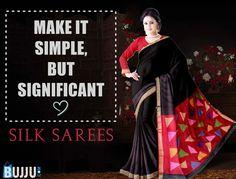 Black Chanderi Silk Saree with Jute Fancy Pallu & Blouse Product code: SNSA90S007 Retail price: 1,365/- Sale price : 1,300/-
