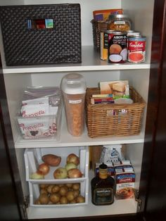 potatoes onions storage | Pantry Organized - storage for potatoes and ... | Organization Time!