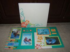 Premade Vacation Cruise Pool Summer Scrapbook Album  $99.99.  Ready for your 4 by 6 photos.  20 pages.