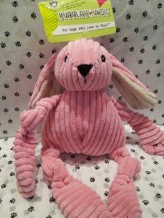 Huggle Hounds Pink Bunny - soft & durable, all at the same time! #GodfreysDogdom