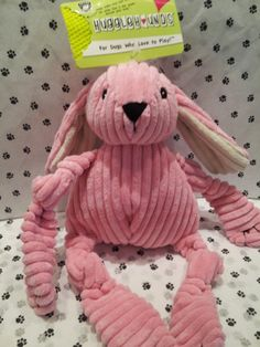 Huggle Hounds Pink Bunny - soft & durable, all at the same time! #GodfreysDogdom
