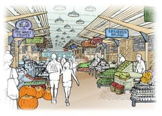 Boston public food market set for construction - The Boston Globe Downtown Boston, Boston Public, Boston Strong, Marketing Plan, Construction, How To Plan, Things To Sell, Design, Centre