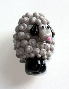 Sheep Bead Handmade Lampwork Beads by LezlieB by cankeep