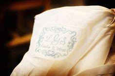 Wedding Dress Label with Decorative Border. $22.00, via Etsy.