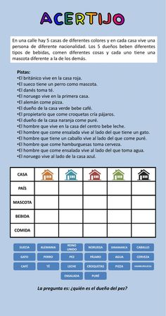 Ejercicio interactivo de Acertijo Spanish Worksheets, Elementary Spanish, Spanish Lessons, Escape Room, Speech Therapy, I Love You, Activities, Education, Math