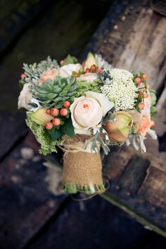 Something like this for me... but with purples instead of pinks- love the succulents, greens