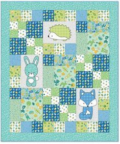 We have assembled 100 free patterns for baby and toddler quilts! Here is Part 2 of our series (also see Part 1 and Part 3 ).(HT LT) Z like layout - Babe in the Woods - Quilt Inspiration: Free pattern day: Baby quilts!Babe in the Woods Blue Flannel Qu Baby Quilts Easy, Baby Girl Quilts, Baby Girl Blankets, Modern Baby Quilts, Quilts For Babies, Baby Quilt For Girls, Baby Quilts To Make, Colchas Quilting, Quilting Projects