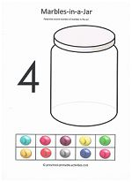 cut-and-paste counting activity from www.preschool-printable-activities.com