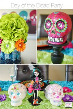 | Day of the Dead Party Week – Monster High Skelita Calaveras Party – Part 1 | http://soiree-eventdesign.com