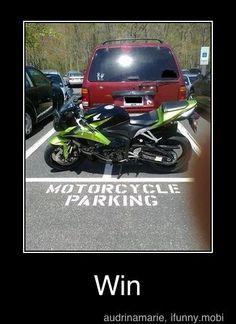 WIN!!!!!  I did this once. (used my bike that is) Muwaa ha ha ha