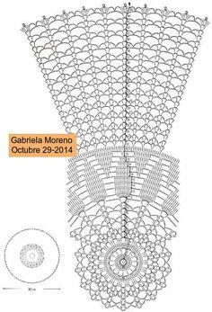 Delicadezas en crochet Gabriela: Nueva Creación mía Mantelito en crochet