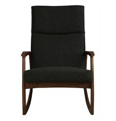 Fresh and quirky, the Edvard Danish Design Rocking Chair is a simple yet stylish piece crafted from sturdy solid American walnut with an upholstery of New American Walnut, Danish Design, Rocking Chair, Upholstery, Lighting, Image, Furniture, Home Decor, Chair Swing