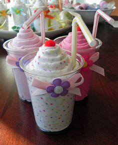 Receiving Blanket Milkshake Combo by BabyBinkz on Etsy - Babyshower - Baby Shower Bricolage Baby Shower, Regalo Baby Shower, Mesas Para Baby Shower, Baby Shower Baskets, Baby Shower Crafts, Baby Shower Invitaciones, Baby Shower Diapers, Baby Crafts, Baby Shower Favors