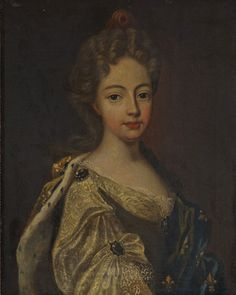Marie Adélaïde of Savoy after her wedding wearing the French fleur-de-lis