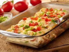 Tasty and easy chicken enchiladas recipe | http://www.hispanaglobal.net/tasty-easy-chicken-enchiladas-recipe/