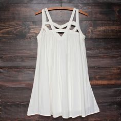 Cage flowy dress in ivory