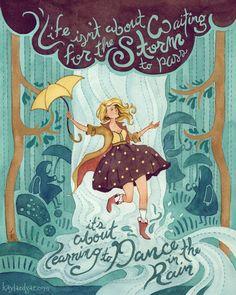 Kayla Edgar illustration & Design Dancing in the Rain
