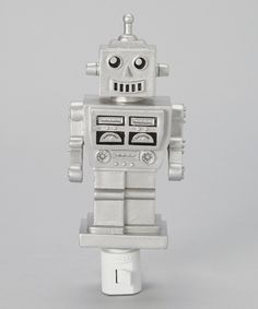 Another great find on #zulily! Silver Robot Night-Light by KingMax Product #zulilyfinds