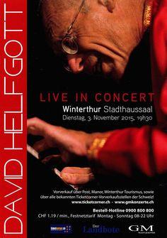 DAVID HELFGOTT LIVE WINTERTHUR - 2015 - SWITZERLAND - KONZERT U. KINOFLYER