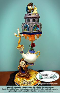Beauty and the Beast cake, by 'Truly Custom Cakery', LLC