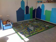 Love the addition on the wall. Classroom Design, Classroom Themes, Block Center Preschool, Kindergarten, Preschool Rooms, Block Area, Family Child Care, Toddler Classroom, Classroom Environment