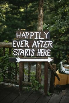 happily ever after starts here...use font type to match invites and any signage