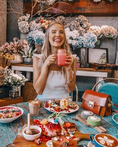 Cuppa Flower Cafe in Sydney Brunch, Streetstyle Blogger, Ohh Couture, Flower Cafe, Leonie Hanne, Breakfast Photography, Little Lunch, Eat The Rainbow, Valentine's Day Quotes