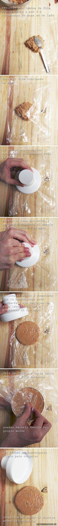 Tutorial para hacer hamburguesas veganas con molde