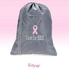 October is Breast Cancer Awareness month. You'll show your support when you carry this Thirty-One Cinch Sac with a powder pink ribbon. For every ribbon purchased 31 cents will be donated to Thirty-One Gives to support our mission to empower women and girls and strengthen families.