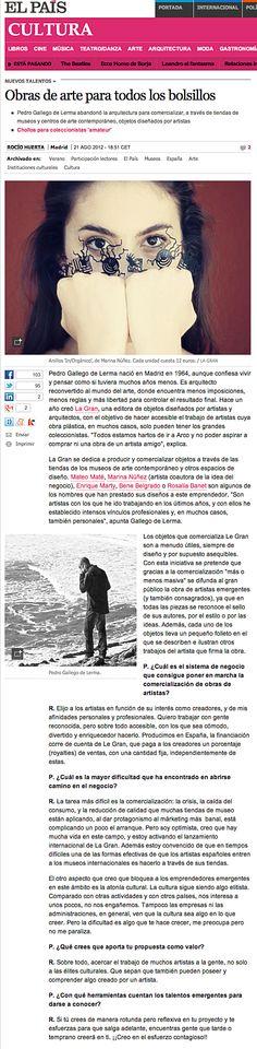 La Gran en El País. Entrevista a Pedro Gallego. 22 agosto 2012
