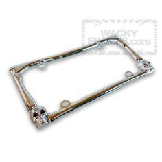 2 Pack Barbed Wire II Chrome License Plate Frame