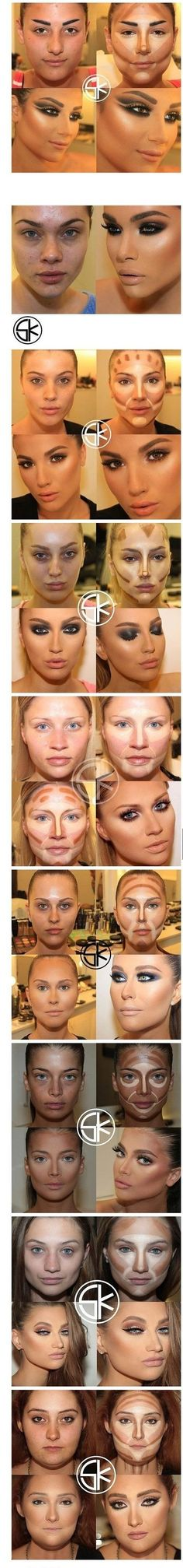Contouring... Looks so cool and tbh very beautiful, but I'm afraid of not recognizing myself in the mirror.