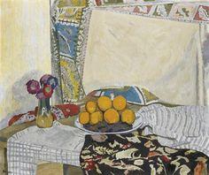Oranges et tapis (oranges and carpet) - Hans Berger Swiss oil on canvas , 70 x 82 cm Henri Matisse, Winter Time, Cool Artwork, Still Life, Oil On Canvas, Auction, Carpet, Antiques, Painting