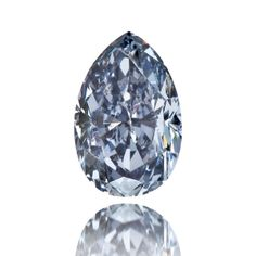 Pear shaped indigo blue diamond. Discover beautiful fancy diamonds from RenéSim: http://www.renesim.com/diamanten/fancydiamonds