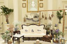 結婚式当日のおしゃれな高砂 Inspiration Wall, Bride Groom, Valance Curtains, Gallery Wall, Table Decorations, Mockup, Lavender, Tables, Wedding