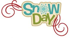 Scrapbook Layout Title - Snow Day
