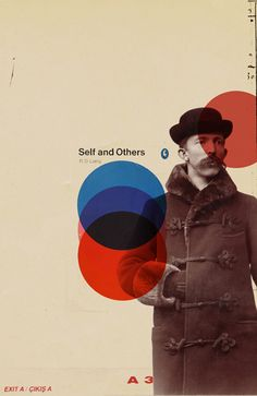 Cover design for 'Self and Others'. Reminds me of El Lissitzky.