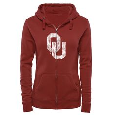 Modest Colosseum Oklahoma Sooners Full Zip Athletic Jacket Womens Small Excellent Clothing, Shoes & Accessories