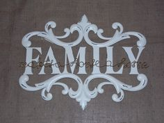 Scrolling Large White Metal Vintage Family Wall Sign, £34.95 Family Wall, Inspired Homes, Large White, Home Decor Items, Wall Signs, Vintage Inspired, Metal, Inspiration, Wall Plaques