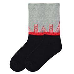 Men's Golden Gate Bridge Socks - American Made | K.Bell - $13