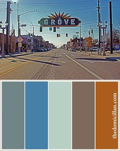 Instagram causes The Grove in St. Louis to give off a very 70s color palette. Updated by subduing some of the tones and changing up the browns.