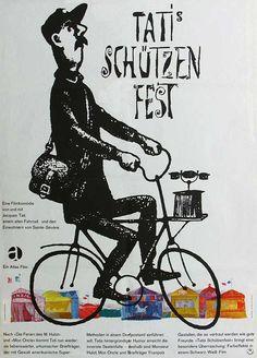 1960s German poster for Jour de fête (Jacques Tati.1949)