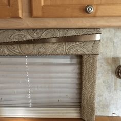 Not loving your RV's blinds or shades? 20  ideas for curtains, cornices, valances, etc. for campers, motorhomes, travel trailers, and all kinds of RVs.