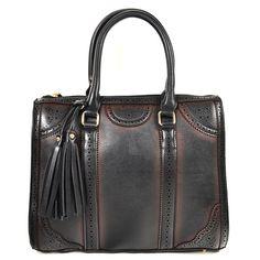 Vintage Fringe Handbags Black Tote Bag at BagMadness.com  #fringehandbags #blackhandbags #fringebags #vintagebags #vintagehandbags #Bagmadness #2014handbags #2014fashion #fashionhandbags #blackbags