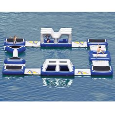 Floating Obstacle Course | Hammacher Schlemmer